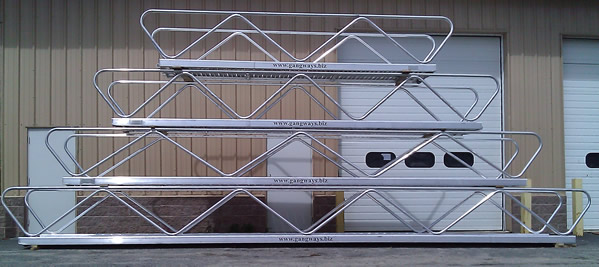 The Wave style aluminum gangway